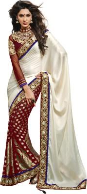 Moh Manthan Self Design Fashion Viscose Sari