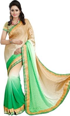 Priya Fashion Self Design Bollywood Georgette Sari