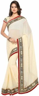 Aarnas Fashion Solid Bollywood Chiffon Sari