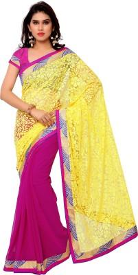 Gunjan Creation Plain Fashion Brasso Fabric Sari