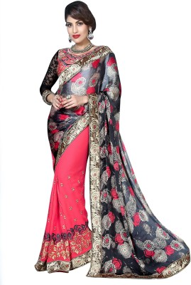 Blissta Embriodered Fashion Satin Sari