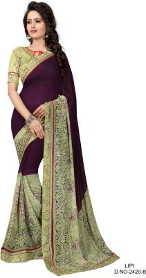 Indianbeauty Self Design, Printed Fashion Chiffon Sari