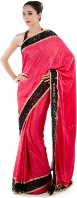 Bazzzar Self Design Fashion Satin Sari