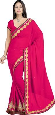 pbs prints Self Design Bollywood Georgette Sari