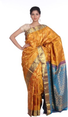 Indian Artizans Woven Kanjivaram Handloom Pure Silk Sari