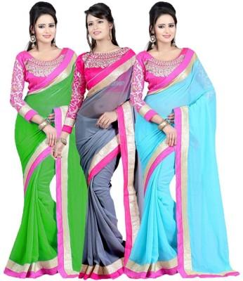 Deepak Sari Embriodered Bollywood Georgette Sari
