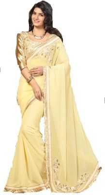Blitz N Glitz Embriodered Fashion Pure Georgette Sari