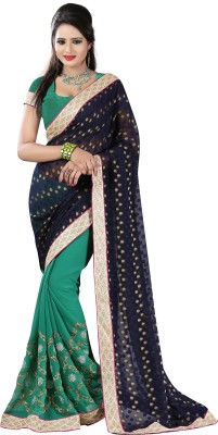 Anoha Embriodered Fashion Georgette, Jacquard Sari