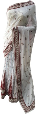 Desiner Embriodered Lehenga Saree Synthetic Sari