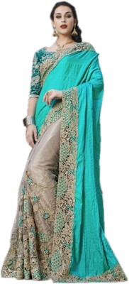 TrynGet Embriodered Fashion Handloom Net Sari