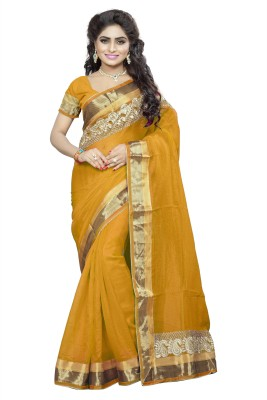 Krishna Fab Embriodered Bollywood Cotton Sari