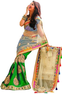 Teeya Creation Embriodered Bollywood Georgette Sari