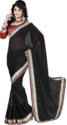 Saitex Self Design Fashion Chiffon Sari