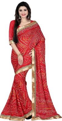 Budget Vastra Floral Print Bollywood Art Silk Sari