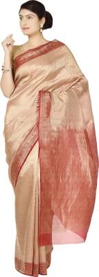 Zain Textiles Woven Banarasi Handloom Tissue Sari