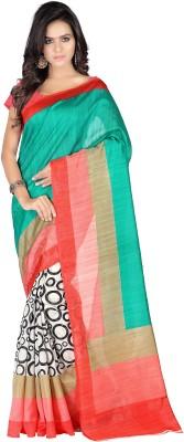 Muta Fashions Chevron Bandhani Pure Georgette Sari