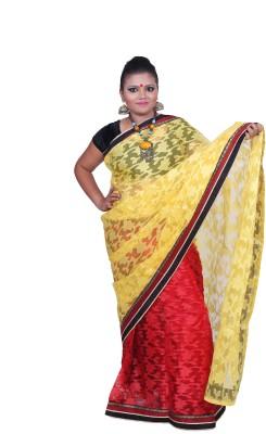 Remi Printed Jamdani Net Sari