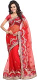 Khazana Embroidered Fashion Net Saree (R...
