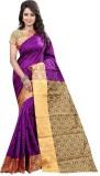 Sai Fabrics Striped Bandhani Silk Sari