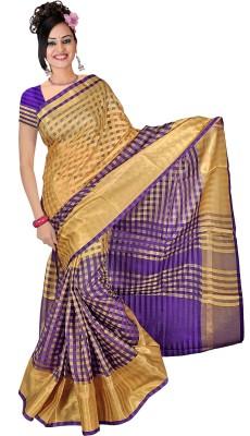 SNEH VARSHA SAREES Geometric Print Bhagalpuri Chanderi Sari