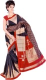 Chaand Sarees Geometric Print Bhagalpuri...