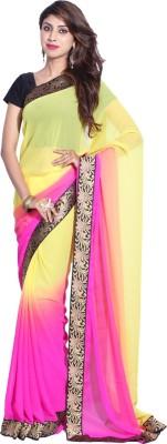 Hanis Solid Fashion Handloom Chiffon Sari
