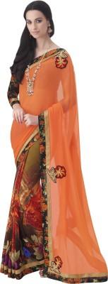 Melluha Embriodered Fashion Georgette Sari
