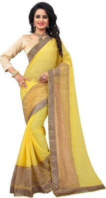 Lovelylook Solid Daily Wear Chiffon, Georgette Sari