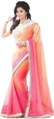 Jiya Fashion Embriodered Fashion Pure Chiffon Sari