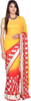 Paisley Couture Printed Fashion Georgette Sari