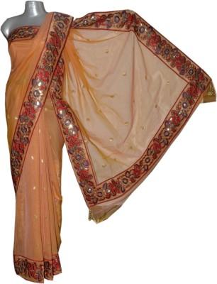 Kreasions Floral Print Fashion Handloom Net Sari