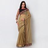 Bhelpuri Embroidered Fashion Chanderi Sa...
