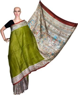 Prateeti Printed Madhubani Handloom Tussar Silk Sari