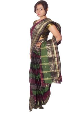 S.B Textiles Self Design Tant Cotton Linen Blend Sari