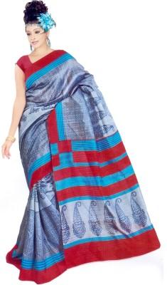 Raj Creative Paisley, Printed Bhagalpuri Silk Sari