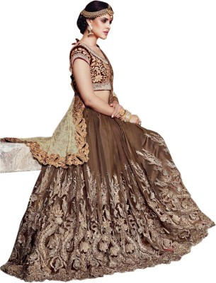 TrynGet Embriodered Bollywood Georgette Sari
