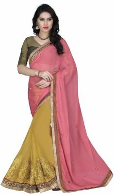 Go4fashion Embriodered Fashion Chiffon Sari