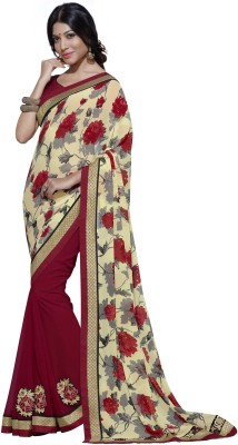 Manvaa Embriodered Fashion Georgette Sari