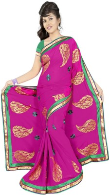 Anjani Creation Self Design Fashion Georgette Sari