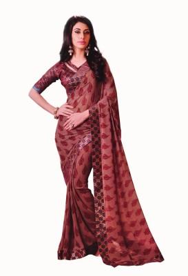 freshboss Floral Print Coimbatore Chiffon Sari