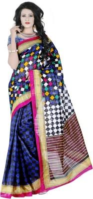 Kalaniketanfashion Printed Bhagalpuri Silk Sari