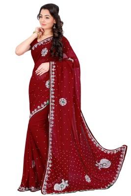Chandra Silk Mills Embellished Lehenga Saree Georgette Sari
