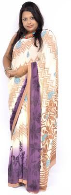 Gulmohaar Printed, Geometric Print Bollywood Georgette Sari
