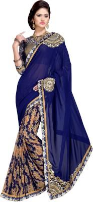DEEPANJALI PRINTS Embriodered Fashion Chiffon Sari