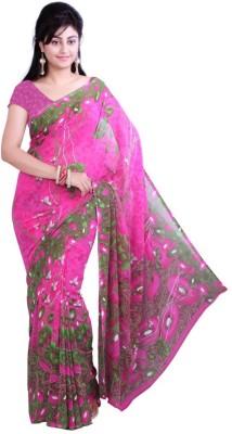 Rockchin Fashions Printed Fashion Georgette Sari