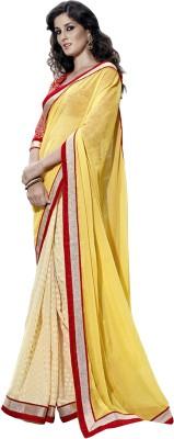 Blissta Self Design Fashion Chiffon, Jacquard Sari