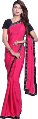 Hanis Solid Fashion Handloom Crepe Sari