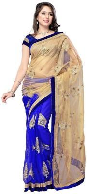Rohini Fashion Embriodered, Solid Fashion Net Sari