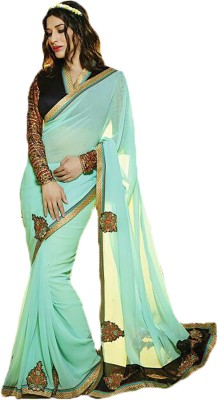 FabDesire Embriodered Bollywood Georgette Sari