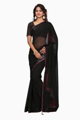 Sheryl Trendz Self Design Fashion Georgette Sari